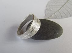Silver leaf ring by Silverlines on Etsy, £69.00