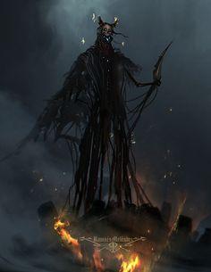 Damaar by Ramses Melendez on ArtStation. Dark Creatures, Fantasy Creatures, Mythical Creatures, Dark Fantasy, Fantasy Art, Ramses, Dnd Monsters, Arte Obscura, Macabre Art