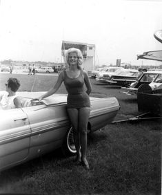 Miss Firecracker 400, Daytona Beach Race Track 1963. This race is a traditional Independence Day Celebration Race in Florida.  Always on July 4th.  At Daytona International Speedway, Daytona Beach, FL   160 laps on a 2.500 mile paved track (400.0 miles).  In 1963 the race was expanded from 100 laps to 160 laps, for a distance of 400 miles, and subsequently became known as the Firecracker 400. In the same year Fireball Roberts drove his '63 Ford to victory.
