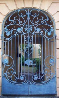 Art Nouveau Wrought Iron Door. by Hercio Dias