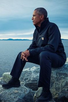 President Obama in deep thought on his trip to Alaska