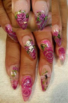 Calli round 2!   by Ivystar - Nail Art Gallery nailartgallery.nailsmag.com by Nails Magazine www.nailsmag.com #nailart