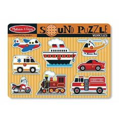 For sale Melissa & Doug Vehicles Sound Puzzle Big Discount - http://www.buyinexpensivebestcheap.com/36343/for-sale-melissa-doug-vehicles-sound-puzzle-big-discount/?utm_source=PN&utm_medium=marketingfromhome777%40gmail.com&utm_campaign=SNAP%2Bfrom%2BOnline+Shopping+-+The+Best+Deals%2C+Bargains+and+Offers+to+Save+You+Money   2 to 4 Years, Educational Toys, Gifts For 2 Year Olds, Gifts For 3 Year Olds, Gifts For 4 Year Olds, Gifts For Four Year Olds, Gifts For Three Year Olds,