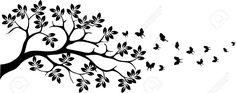 silhouette tree butterfly - Google-Suche