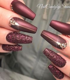 """your success is our reward"" – Ugly Duckling Nails Inc. - elegant ""your success is our reward"" – Ugly Duckling Nails Inc. Burgundy Nail Polish, Burgundy Nail Designs, Burgundy Acrylic Nails, Oxblood Nails, Pink Polish, Nails Inc, Gel Nails, Glitter Nails, Polish Nails"