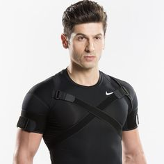 Kuangmi Double Shoulder Support Brace Breathable for Sport Gym and Pain Relief from Shoulder Problems for Men Women Black 1 Piece: Amazon.co.uk: Sports & Outdoors
