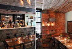 Rucola, Brooklyn farm to table restaurant.  Design by Uhuru.