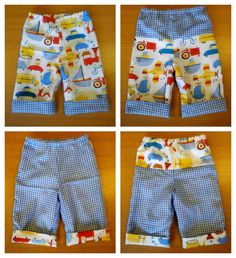 Tiny Reversible Baby Trouser Pattern, inspiration