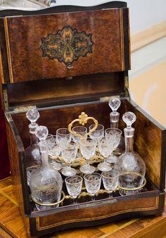 Antique French tantalus set Napoleon III period
