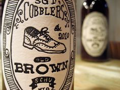 Sgt. Cobbler's beer labelling.