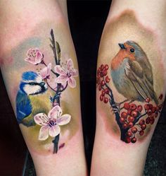 Prettiest Bird Tattoos on Arm