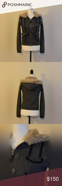 Marc Jacobs Bomber Jacket Super warm and comfy Marc Jacobs jacket. The hood is lined with faux fur trim. Marc Jacobs Jackets & Coats Utility Jackets