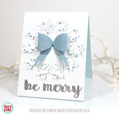 Caryn Davies for Avery Elle Supplies: Pop Up Wreath Die Holly Jolly Die