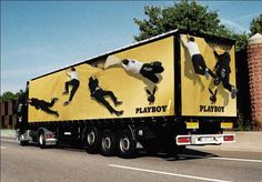 25 Cool Examples of Truck Advertising Truck Advertising: Playboy Bus Advertising, Creative Advertising, Advertising Design, Truck Design, Ad Design, Graphic Design, Cool Trucks, Big Trucks, Vehicle Signage