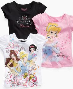 More cute tees! Disney Kids Shirt, Little Girls Princess Sparkle Shirt - Kids Girls 2-6X - Macy's $12.00 #MacysBTS