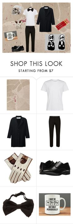 """""""W. D. Gaster - Undertale"""" by ipolywhorei ❤ liked on Polyvore featuring GRIT&ground, Enfants Riches Déprimés, Topman, Black, Stacy Adams, men's fashion and menswear"""