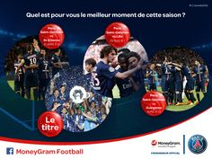 Engaging with the MoneyGram Football audience, asking what their favorite moment of the season was!