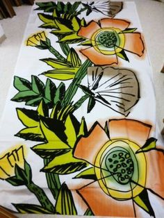 "Marimekko Finland Fujiwo Ishimoto 2003 ""VILLI Ja Vapaa"" Big Beautiful Fabric | eBay"