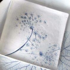 Handmade porcelain plate