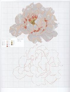 White Flower 2 of 2 Cross Stitch Love, Cross Stitch Needles, Cross Stitch Flowers, Cross Stitch Designs, Cross Stitch Patterns, Blackwork, Brush Embroidery, Embroidery Patterns, Cross Stitching