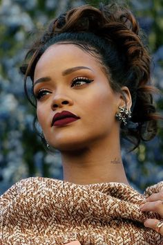 rihanna, hair, and makeup Bild