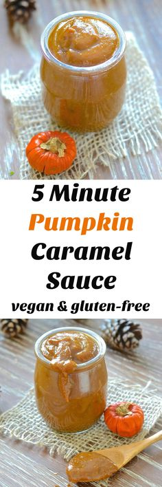 Silky, creamy & rich Vegan Pumpkin Caramel Sauce. Ready in only 5 minutes! Ridiculously easy & just full of sweet pumpkin deliciousness! via @avirtualvegan
