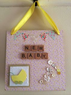 New Baby plaque by EveAmberLay on Etsy https://www.etsy.com/uk/listing/280916132/new-baby-plaque