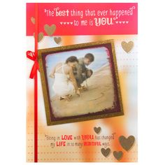 Large Valentine Day Greetings For Your Darling THE Best thing that ever happened to me is you..Benig in Love with you has changed my Life in so many Beautiful ways.. Rs. 250. : Shop Now : http://hallmarkcards.co.in/collections/valentines-cards/products/valentine-day-greetings