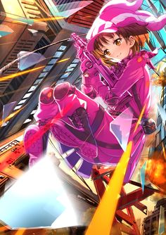 Loli Kawaii, Kawaii Girl, Kawaii Anime, Sword Art Online, Gun Gale Online, Arte Online, Online Art, Sao Ggo, Familia Anime