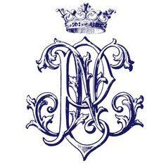 Image result for vintage monograms