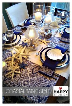 TABLESCAPE TIPS: Use everyday pieces in new ways. For example: Pillow cases give a different look to everyday chairs as chair back slip covers or a (new) printed fabric shower curtain can add pattern as a table cover - Both easy finds at HomeGoods! Finish off your tablescape with travel treasures for #CoastalStyle   Lynda Quintero-Davids #HomeGoodsHappy #sponsored