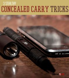 3 Stealthy Concealed Carry Tricks | #SurvivalLife www.SurvivalLife.com