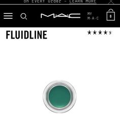 Mac Cosmetics fluid line in IVY- green. NWT! 💜NEW💜 Mac Cosmetics fluid line in IVY- green- new in box never used. Full size product. MAC Cosmetics Makeup Eyeliner