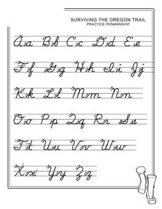 Cursive Alphabet Printable, Cursive Chart, Alphabet Cursif, Printable Handwriting Worksheets, Abc Worksheets, Cursive Script, Alphabet Writing, Script Alphabet, Writing Letters