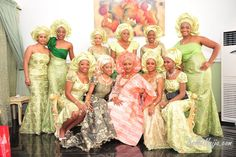 yoruba wedding | Another bride with her friends. Courtesy of bella naija.