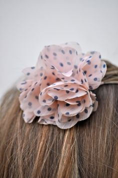 Easy No-Sew Flower Hair Clips and Elastic Headbands - Great for a party gift!