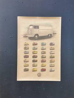 "Affiche ""Kombi Volkswagen"" Néo Rétro"