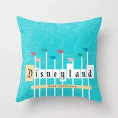 Park Entrance | Disney inspired Throw Pillow by Jordan Blaser - $20.00