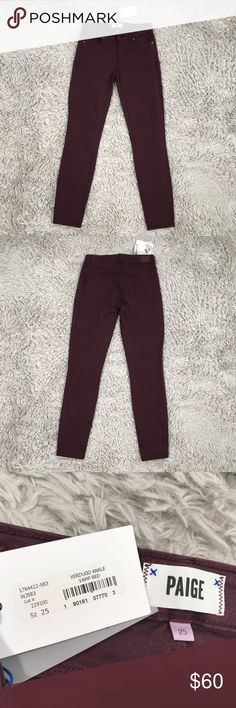 4e72ef53b1f6f Paige Denim Verdugo Ankle Jean Vamp Red Size 25 Pants Term details &  description: Paige