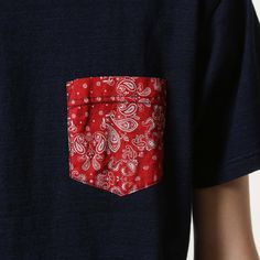 SOPH. | BANDANA POCKET INDIGO TEE (M RED):