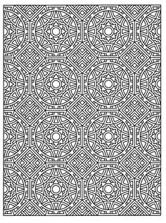 Tessellation Patterns Coloring Book page Dover Coloring Pages, Pattern Coloring Pages, Printable Coloring Pages, Adult Coloring Pages, Coloring Books, Tessellation Patterns, Zentangle Patterns, Zentangles, Geometric Coloring Pages