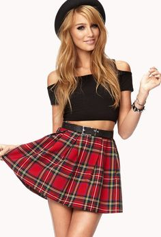 d334598ad3 Forever 21 Cool Girl Plaid Skirt In Red Lyst Plaid Skirt Plaid Skirts, Mini  Skirts