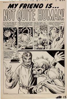 Original Comic Art Steve Ditko Tales to Astonish 13 Comic Book Pages, Comic Book Artists, Comic Artist, Comic Books Art, Tales To Astonish, Jim Steranko, Jack Kirby Art, Nostalgia, Steve Ditko