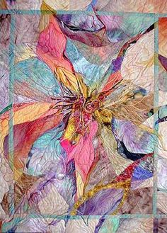 I ❤ art quilts  . . . 'Prana' art quilt ~By Laura Cater-Woods