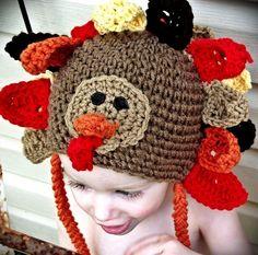 CROCHET PATTERN Thanksgiving Turkey Hat PATTERN