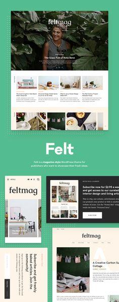 Felt is a magazine-style WordPress theme for publishers who want to showcase their fresh ideas.