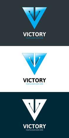 Victory Logo - Letter V V Logo Design, Web Design, Identity Design, Brochure Design, Letter V, Letter Logo, Victory Logo, Coffee Shop Branding, Business Cards Layout