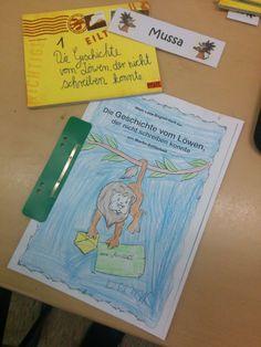 Innenaufnahme: Eine Lesemappe, an der die Kinder während des Lesens arbeiten