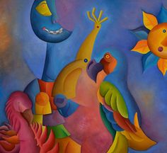 Artist : Piru,  Title : Eclipse acompañado de dos pájaros. Para más información: https://www.facebook.com/pg/MADartmx/photos/?tab=album&album_id=1263210057022746