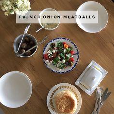 Dinner idea: French onion meatballs